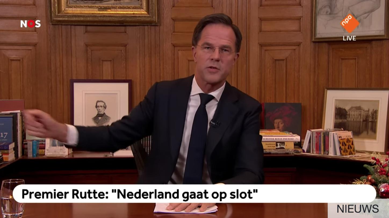 Mark Rutte stoorzenders demonstranten Torentje toespraak